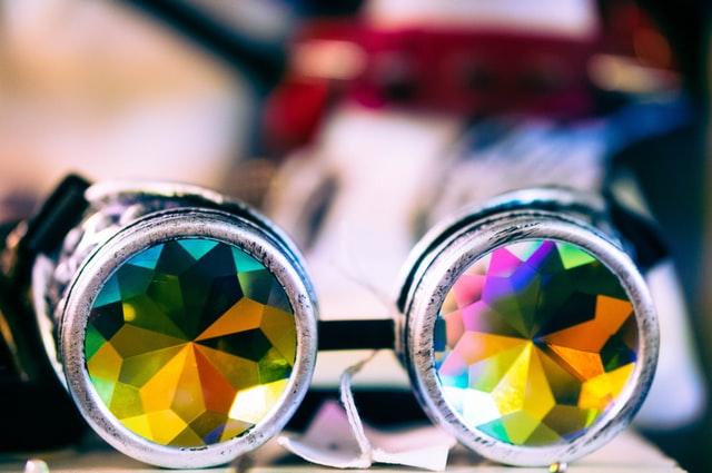 Des belles lunettes kaléidoscopeà la mode !!!
